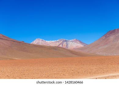 Volcanic landscape of Desierto Salvador Dali : Salvador Dali Desert , also known as Dali Valley, Valle de Dali, an extremely barren valley of southwestern Bolivia, in the Potosí Department