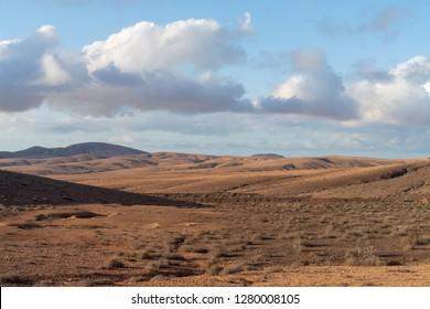 Volcanic landscape, Fuerteventura, Canary Islands, Spain
