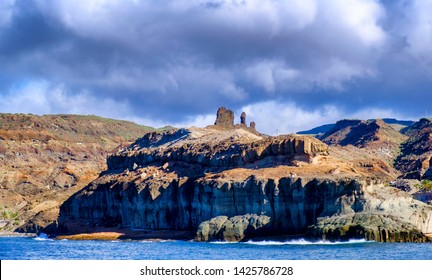 Volcanic landscape in Gran Canaria from the sea