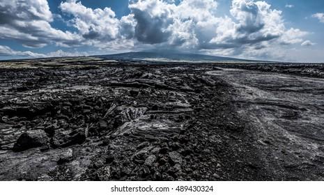 Volcanic landscape of Kona, Hawai'i