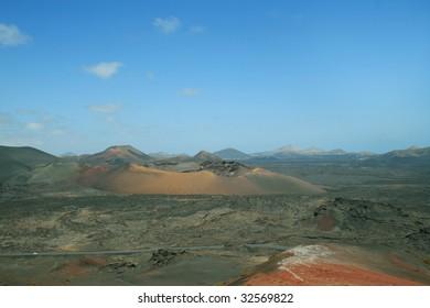 Volcanic landscape on Lanzarote island