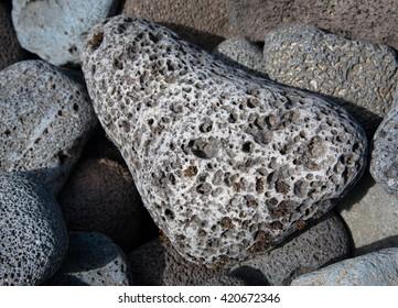 Volcanic lava rocks