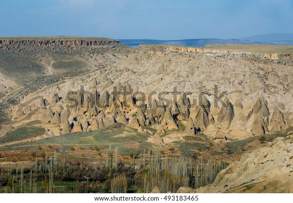 Volcanic mountain in Cappadocia, Goreme, Turkey