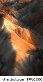 Volcanic mountains Landmannalaugar in Iceland mobile phone wallpaper