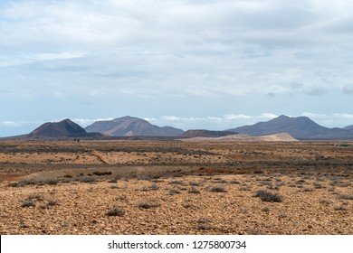 Volcanic mountains near Antigua village, Fuerteventura, Canary Islands