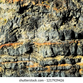 Volcanic Rock Background Texture in Canary Islands Spain