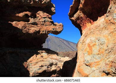 Volcanic rocks, Las Canadas del Teide, Tenerife, surprising diversity, restless for its huge rivers of petrified lava and impresses with its rocks ruined by erosion and by the colossal dimensions