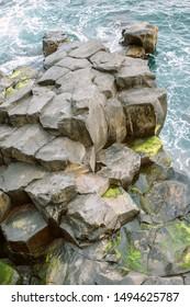 volcanic rocks on the shore of Madeira Island