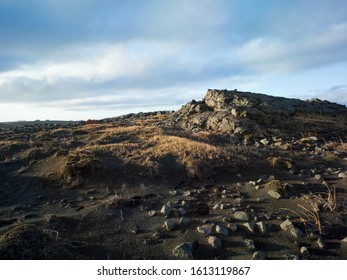 Volcanic rocky landscape in Iceland. Backplate for offroad 4x4 4WD vehicle. Also possible for trekking and hiking.