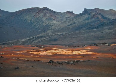 Volcanic scenery and landscape in Lanzarote, Canary islands