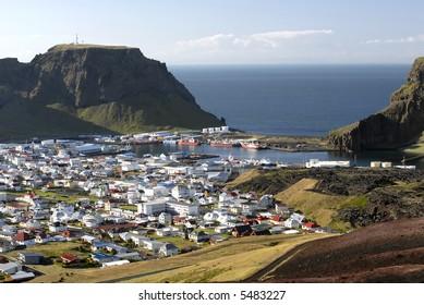 """Volcanic view of Heimaey - """"Westman Islands"""" (Vestmannaeyjar), Iceland"""