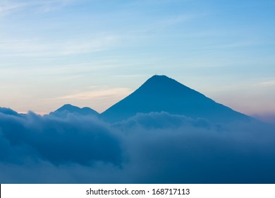 Volcano above clouds Guatemala