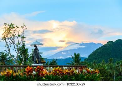 Volcano Agung, Bali, Candidasa, Indonesia
