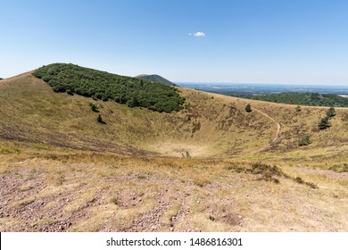 Volcano, chain of Puy-de-Dome, Massif Central, Auvergne, France