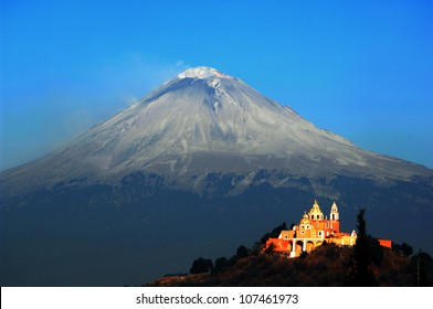 Volcano and Church