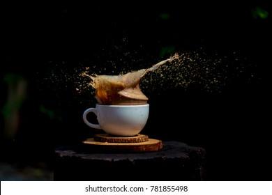 volcano coffee splash coffee