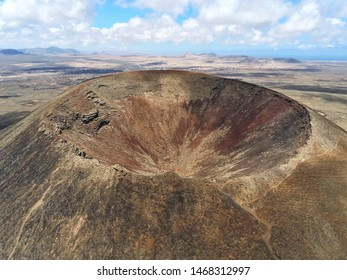 Volcano crater Fuerteventura Canary Islands