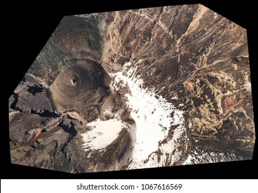Volcano Crater Orthorectified Composite Image Using Small Uav Or Drone