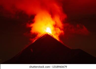 Volcano de Fuego, Guatemala - Eruption on June 2, 2018