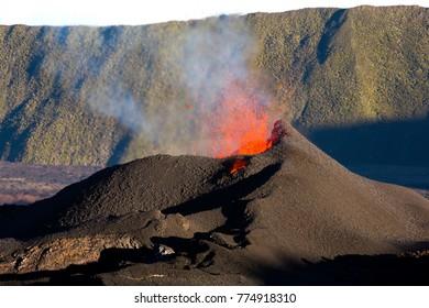 Volcano in Eruption, Reunion Island