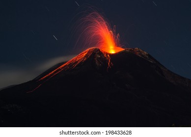 volcano Etna eruption