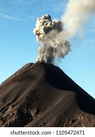 Volcano Fuego in Guatemala - eruption example (taken December 2017 from Acatenango volcano).