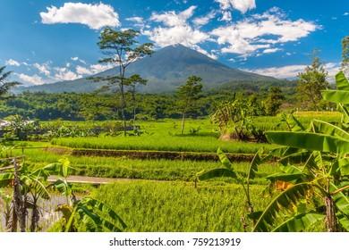 the volcano gunung guntur, java, indonesia, asia