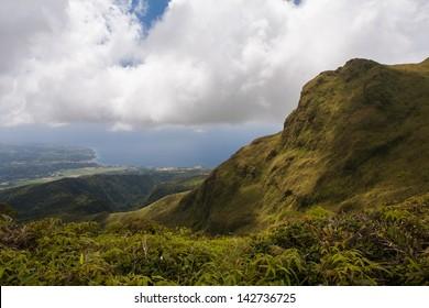Volcano of La Montagne Pelee, Martinique