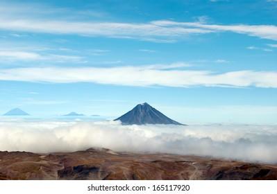 volcano landscape on Kamchatka