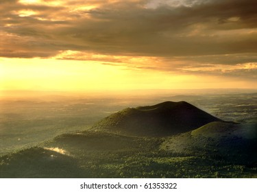 The volcano, Massif Central, Auvergne, France