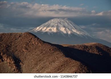Volcano Misti near Arequipa a city  in the south of Peru.