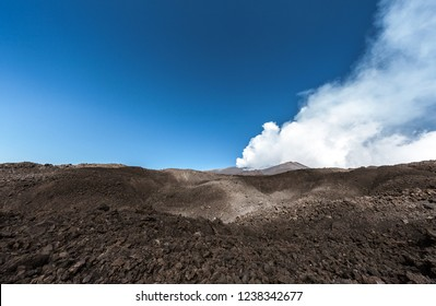 Volcano of mount Etna in Sicily