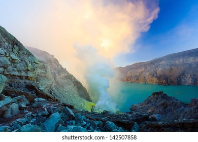 the volcano mountain is hot volcano