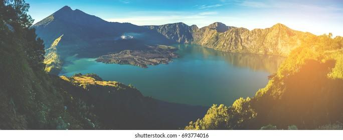 Volcano mountain Rinjani of Indonesia.