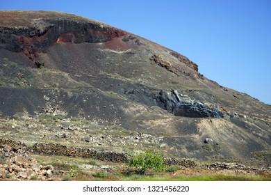 Volcano on the Fuerteventura island, Spain