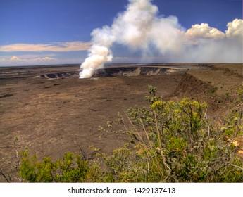 Volcano on Hawaii Big Island