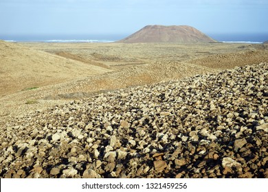 Volcano on the north part of Fuerteventura island, Spain