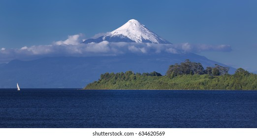 Volcano Osorno at Llanquihue Lake (Chile)
