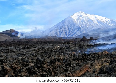 Volcano Ostry Tolbachik. Kamchatka, Russia