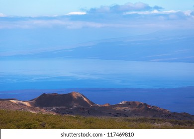 Volcano Sierra Negra, Galapagos Islands, Ecuador. The second largest crater in the world