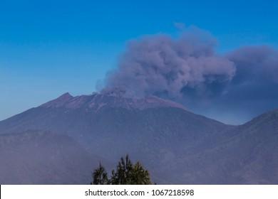 Volcano Smoke In Indonesia.