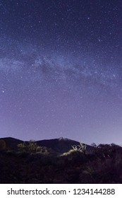 Volcano Teide at the Island of Tenerife under the Milky Way