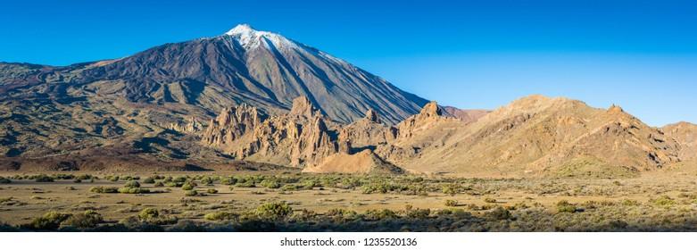 Volcano Teide Panorama at Tenerife Island