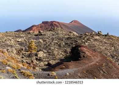 Volcano Teneguia in La Palma, Canary Islands