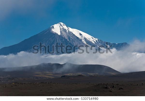 Volcano Tolbachik on Kamchatka, Russia.