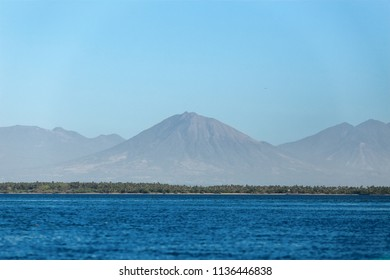 The Usulután Volcano viewed from the coast of the Jiquilisco Bay in El Salvador, Central America