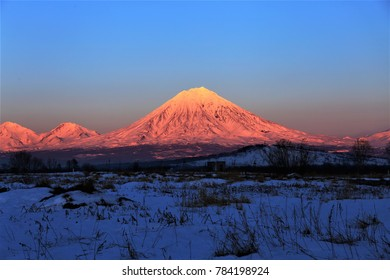 volcano in winter
