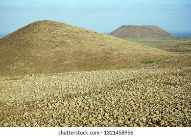 Volcanoes on the Fuerteventura island, Spain