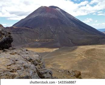 Volcanoes of the Tongariro Crossing,  Tongariro National Park, Ruapehu North Island, New Zeland