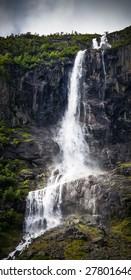 Volefossen close to the Briksdal glacier, Norway